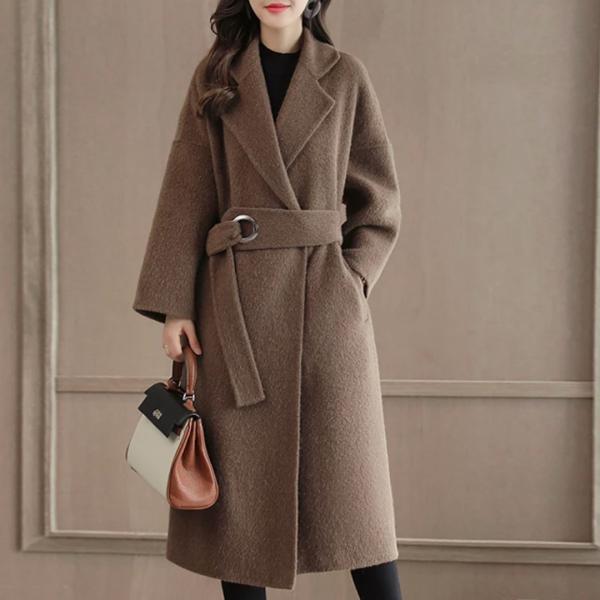 Шерстяное пальто большого размера 46-70