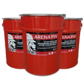 Сухая смесь для ликвидации активных течей ARENA PlugMix PW