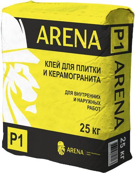 Клей для плитки и керамогранита усиленный ARENA P1