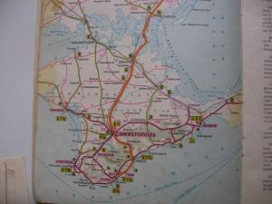 Фото Карты городов МИРА Атлас автомобильных дорог  Черноморское побережье и Кавказ 1972