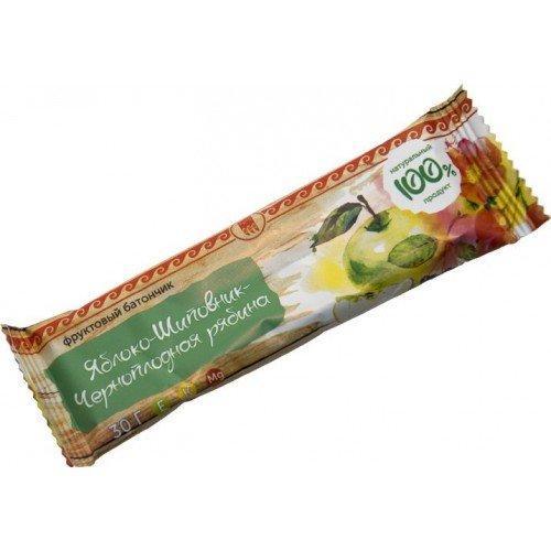"""Батончик фруктовый """"Яблоко-шиповник-черноплодная рябина"""""""