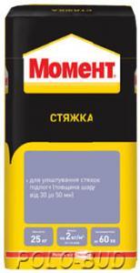 Фото ОБУСТРОЙСТВО ПОЛОВ Момент стяжка для полов 25 кг