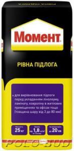 Фото ОБУСТРОЙСТВО ПОЛОВ Самовыравнивающаяся смесь «Момент». Ровный пол, 25кг