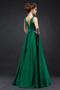 Фото Вечерние платья Длинное атласное вечернее платье Шанель