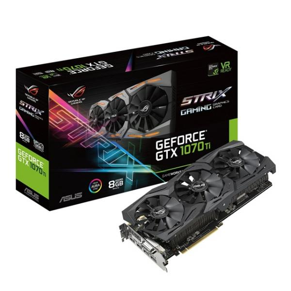 ASUS GeForce GTX 1070 Ti STRIX GAMING 8GB GDDR5 VR Ready