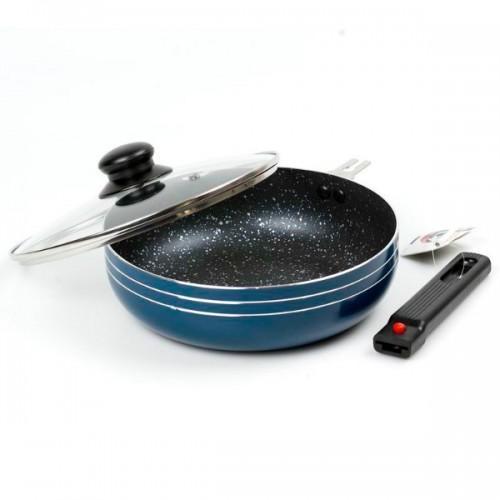 Сковорода-сотейник  глубокая со съемной ручкой WELLBERG d 22 см. WB-2341