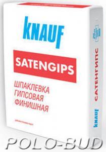 Фото СУХИЕ ГИПСОВЫЕ СМЕСИ Шпаклевка Knauf Satengips, 10кг