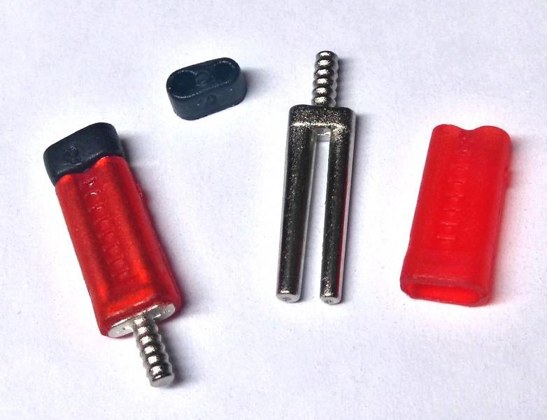 Би-Ви-Пин (Красные с пластиковой втулкой) -500шт / уп.