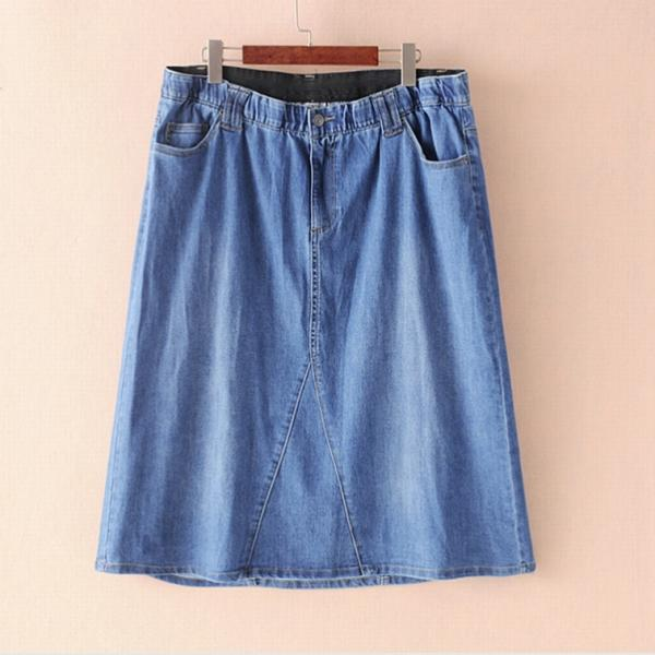 Джинсовая юбка ,размеры 58-74