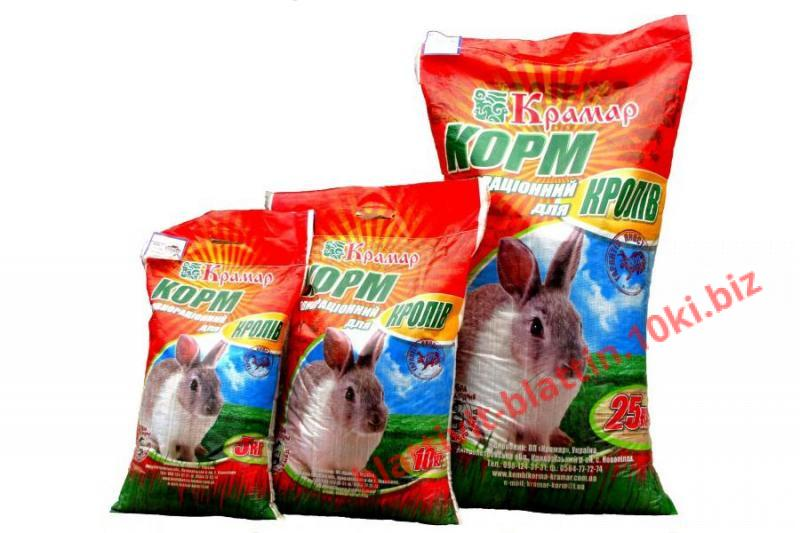 Фото КРАМАР - для Свиней Скота Птицы Кролей, Для кролей КК 92-2 Для взрослых кролей (без травяной муки)