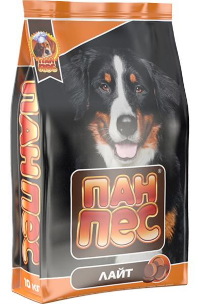 Сухой корм для собак Пан Пес — Лайт 10 кг