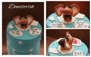 Фото Торты, Тематические торты Торт с мамонтенком для мамы