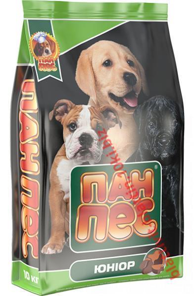 Фото Сухой корм для собак ТМ «Пан Пес» Сухой корм для собак Пан Пес — Юниор
