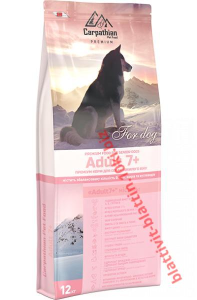 Фото Сухой корм для собак ТМ «Пан Пес» Сухой корм  Carpathian Pet Food — Adult 7+ Для собак старше 7 лет