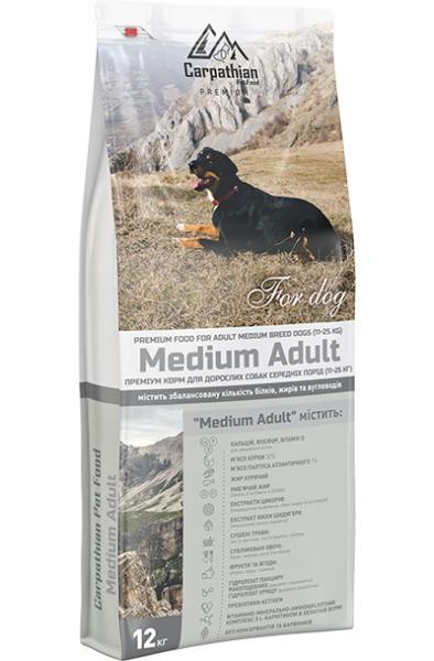 Сухой корм Carpathian Pet Food — Medium Adult Для взрослых собак средних пород