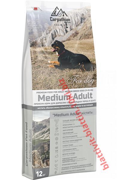 Фото Сухой корм для собак ТМ «Пан Пес» Сухой корм Carpathian Pet Food — Medium Adult Для взрослых собак средних пород