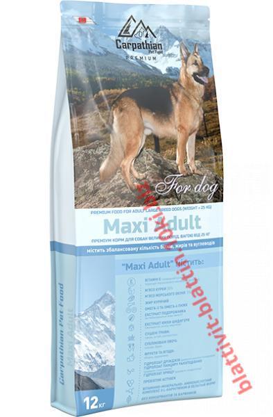 Фото Сухой корм для собак ТМ «Пан Пес» Сухой корм Carpathian Pet Food — Maxi Adult Для взрослых собак крупных пород
