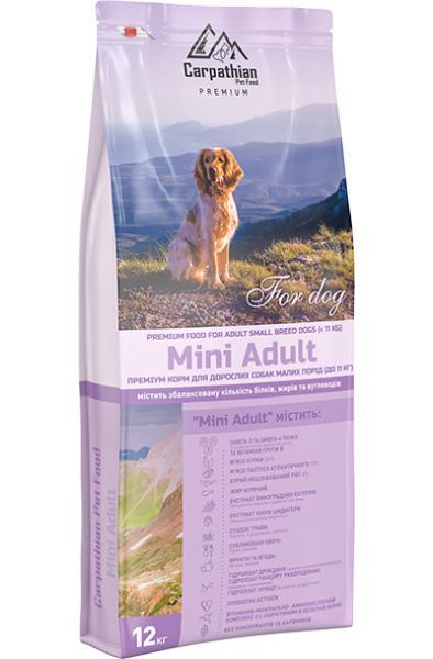 Сухой корм Carpathian Pet Food – Mini Adult Для взрослых собак малых пород