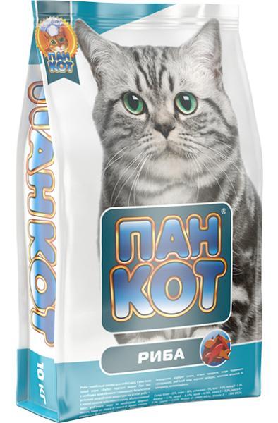 Пан Кот — Рыба Сухой полноценный корм для кошек с содержанием морской рыбы