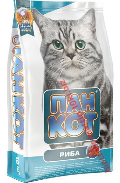 Фото Сухой корм для кошек ТМ «Пан Кот» Пан Кот — Рыба Сухой полноценный корм для кошек с содержанием морской рыбы