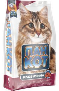 Сухой корм для кошек Пан Кот — Яловичина Специально разработанный рецепт на основе говяжьего мяса