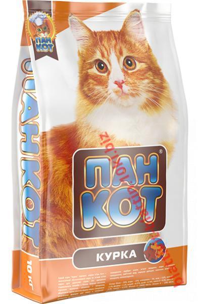 Фото Сухой корм для Кошек ТМ «Пан Кот» Сухой корм для кошек Пан Кот — Курка Полноценный сбалансированный корм на основе мяса курицы