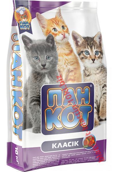 Фото Сухой корм для кошек ТМ «Пан Кот» Сухой корм Пан Кот — Класик Специальный рецепт для котят всех пород