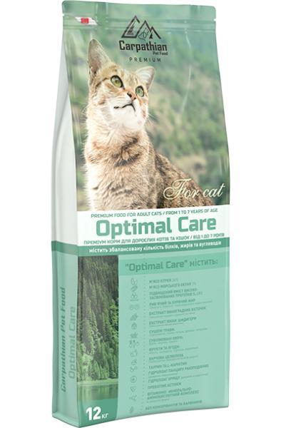 Сухой корм Carpathian Pet Food — Optimal Care Для взрослых котов и кошек всех пород в возрасте от 1 до 7 лет