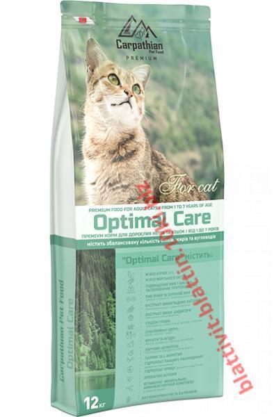 Фото Сухой корм для кошек ТМ «Пан Кот» Сухой корм Carpathian Pet Food — Optimal Care Для взрослых котов и кошек всех пород в возрасте от 1 до 7 лет