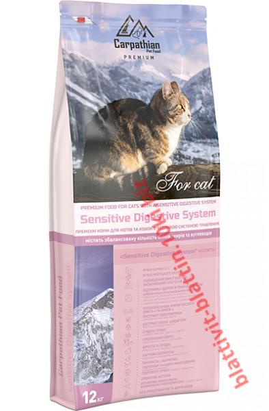 Фото Сухой корм для кошек ТМ «Пан Кот» Сухой корм Carpathian Pet Food — Sensitive Digestive System Для котов и кошек с чувствительной пищеварительной системой