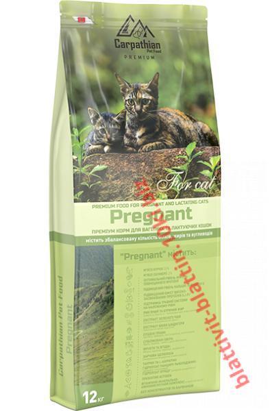 Фото Сухой корм для кошек ТМ «Пан Кот» Сухой корм Carpathian Pet Food — Pregnant Для беременных и лактирующих кошек всех пород