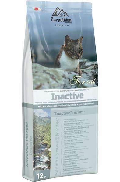 Сухой корм Carpathian Pet Food — Inactive Для малоактивных, кастрированных и стерилизованных котов и кошек всех пород