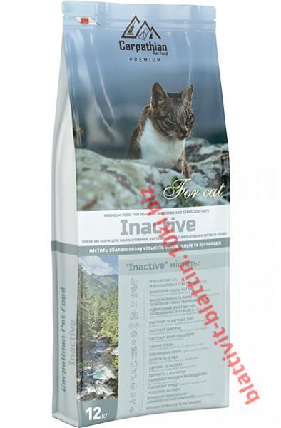 Фото Сухой корм для кошек ТМ «Пан Кот» Сухой корм Carpathian Pet Food — Inactive Для малоактивных, кастрированных и стерилизованных котов и кошек всех пород