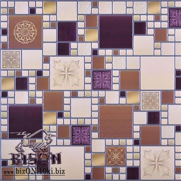 Декоративная Мозаика «МОДЕРН АМАРАНТОВЫЙ»   Листовые панели ПВХ