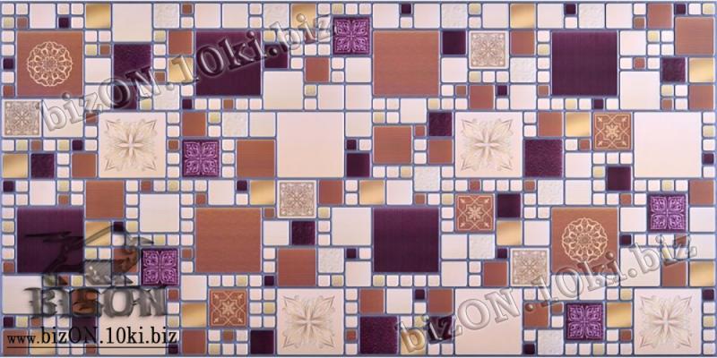 Фото Листовые панели ПВХ Декоративная Мозаика «МОДЕРН АМАРАНТОВЫЙ»   Листовые панели ПВХ