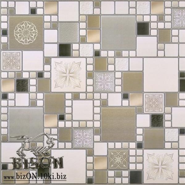 Декоративная Мозаика «МОДЕРН ОЛИВКОВЫЙ»   Листовые панели ПВХ