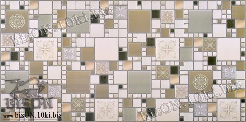 Фото Листовые панели ПВХ Декоративная Мозаика «МОДЕРН ОЛИВКОВЫЙ»   Листовые панели ПВХ