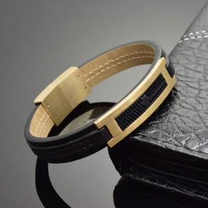 Фото Мужские украшения. Мужские браслеты из кожи.