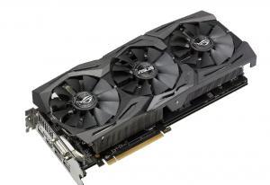Фото  Видеокарта ASUS Radeon RX 580 1360Mhz PCI-E 3.0 8192Mb 8000Mhz 256 bit DVI 2xHDMI HDCP Strix OC Gaming