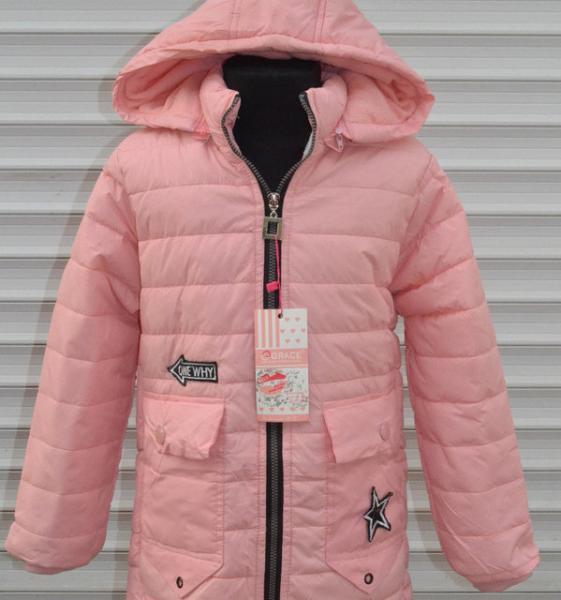 Куртки парки для девочек, демисезон от 3 до 5 лет