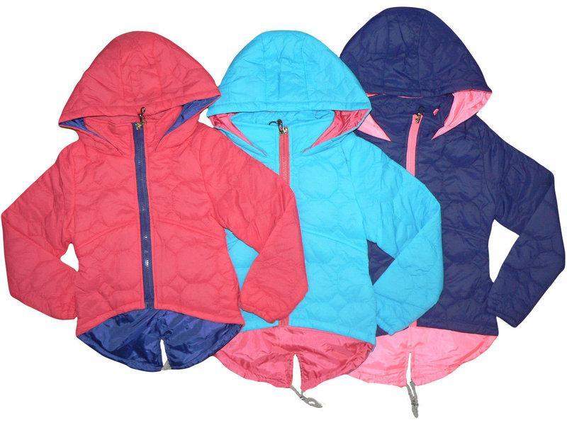 Куртки парки для девочек, демисезон от 4 до 9 лет