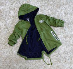 Фото Куртки, ветровки, парки, жилетки ДЕВОЧКАМ Парки ветровки унисекс (от 0,5 до 3 лет)