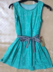 Фото Платья, туники, сарафаны Платье для девочки, гипюр от 8 до 15 лет
