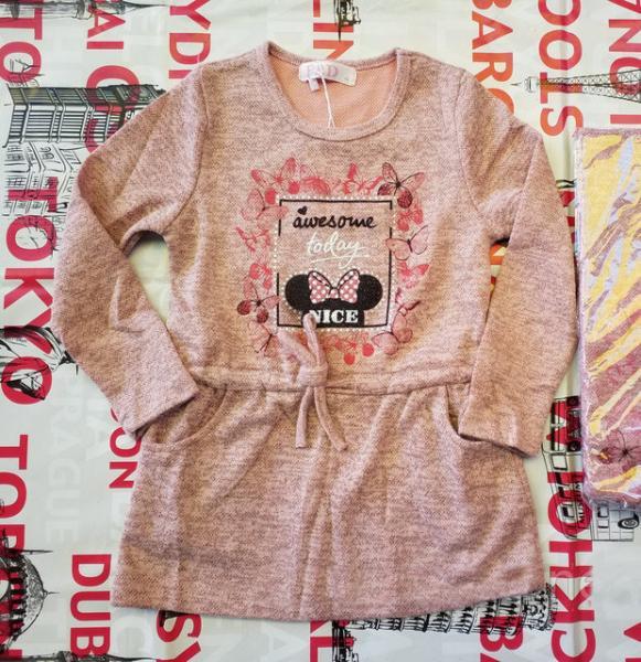 Платье туника для девочки от 9 до 12 лет