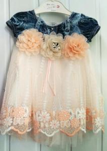 Фото Платья, туники, сарафаны Платье для девочки от 3 до 9 мес