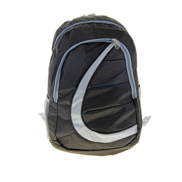 """Рюкзак молодёжный """"Волна"""", 1 отдел, 2 наружных кармана, 2 боковых кармана, цвет чёрно-серый"""