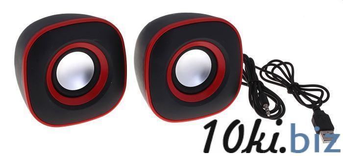Портативные колонки USB для ПК/разъем 3,5, 023, черные с красным купить в Беларуси - Усилители звука, колонки