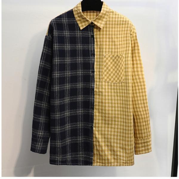 Креативная двух фактурная рубашка