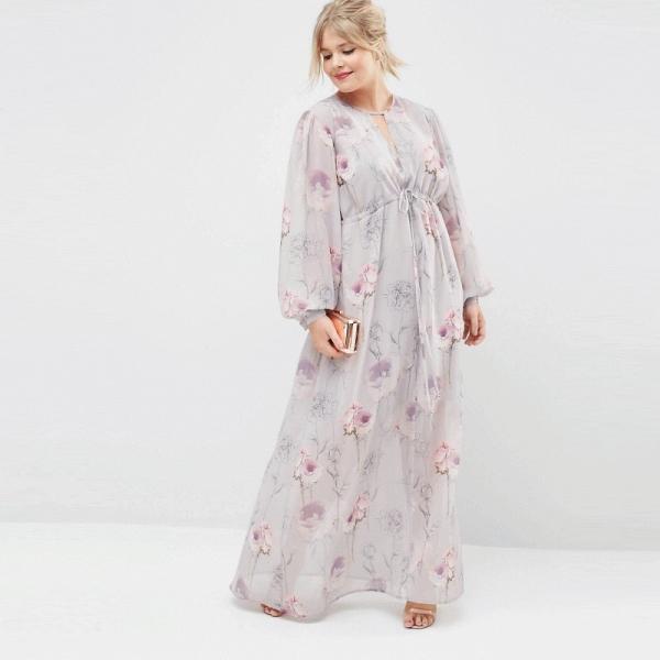 Воздушное платье в пол