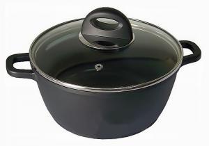Фото Кастрюли и гусятницы с антипригарным покрытием Кастрюля с крышкой BergHOFF Cook Co Cast Line d 28 см. 6,0 л.